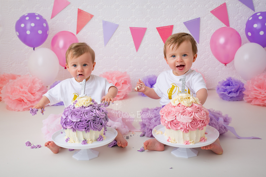 0cdf19768 E & G are 1 year old ! Nottingham Twins Cake Smash Photographer ...