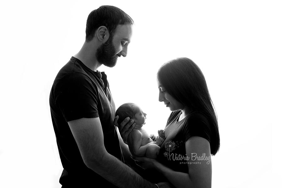newborn with parents photography mansfield