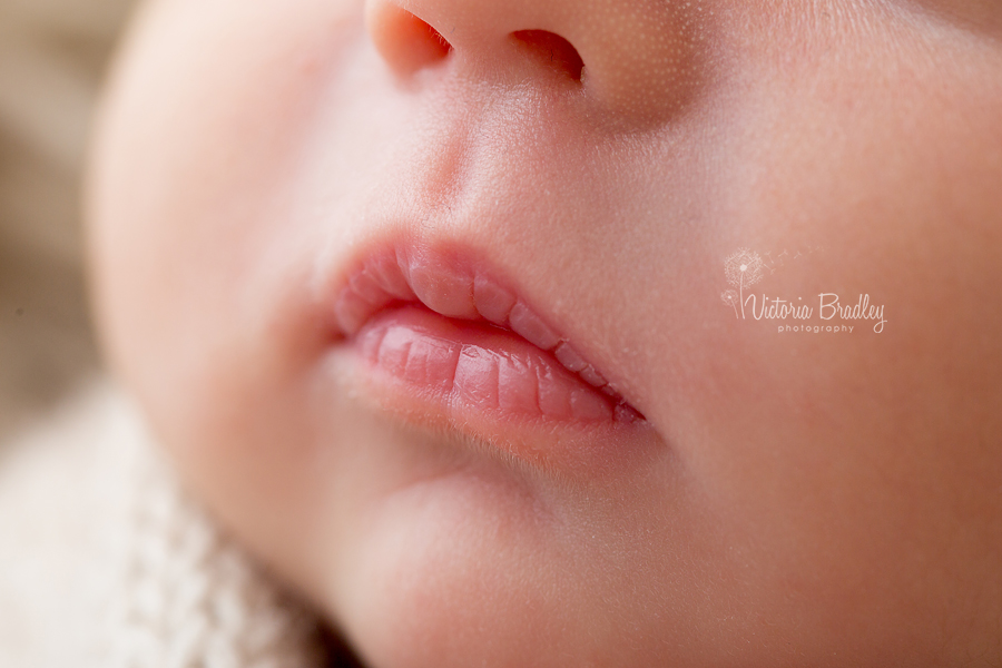 macro shot of baby mouth