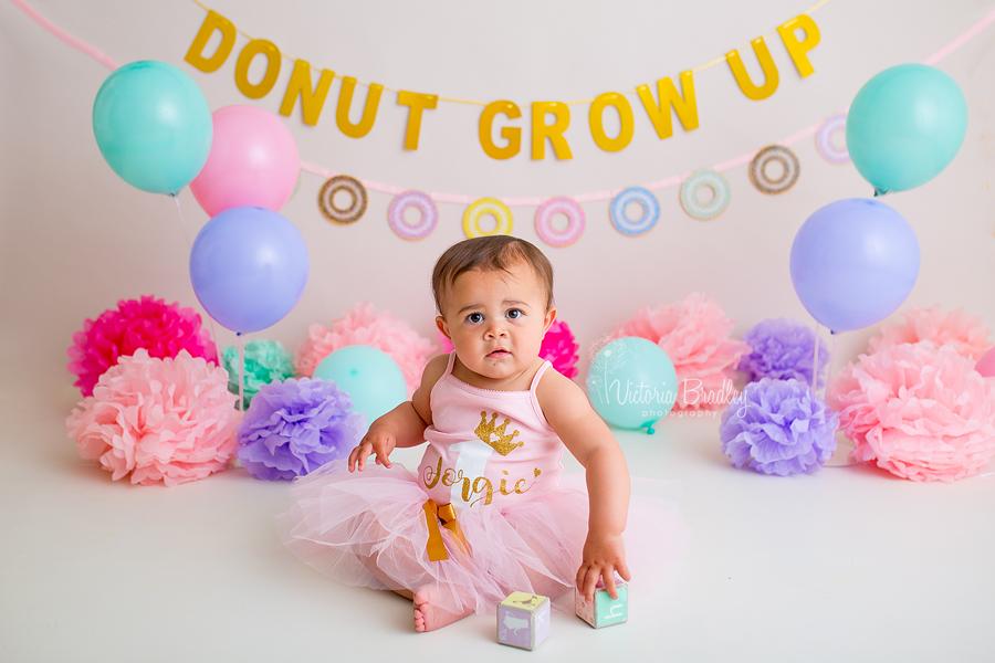 doughnut cake smash baby girl