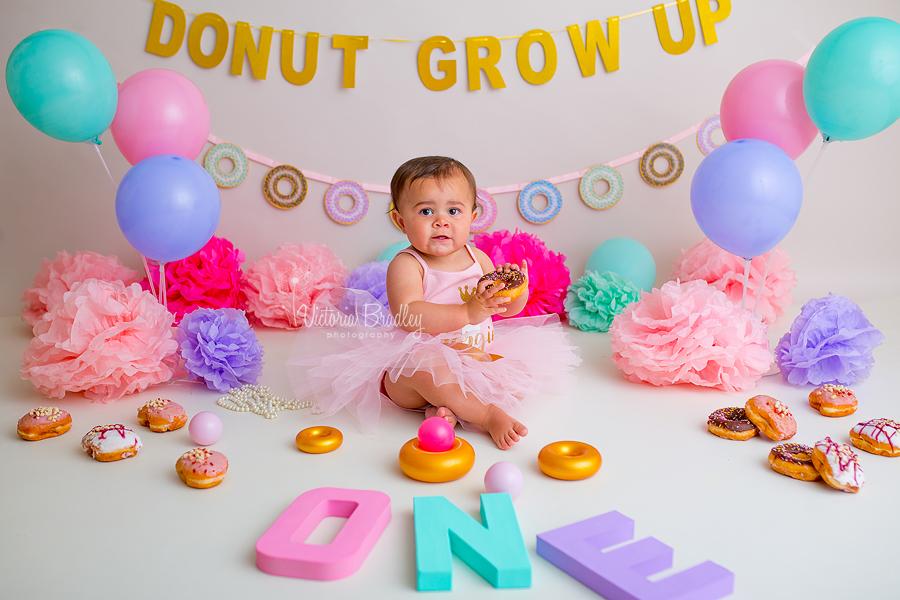 pink doughnut cake smash baby girl