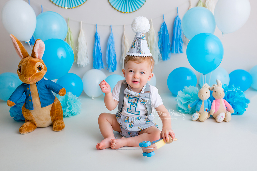 cake smash baby boy peter rabbit
