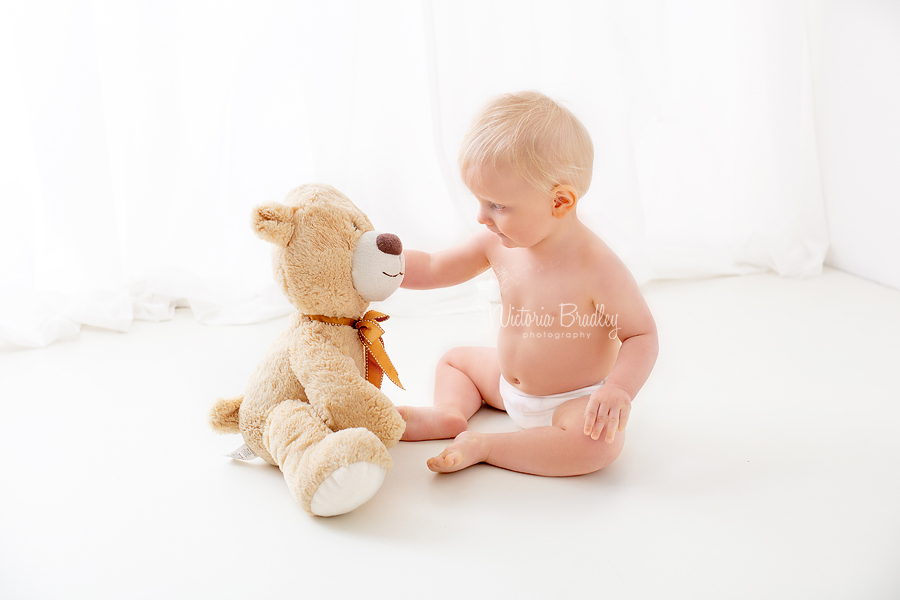 baby bot with teddy bear white set