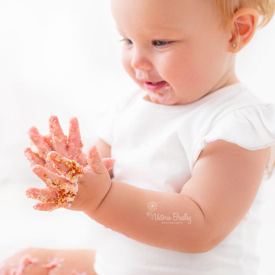 cakey baby hands