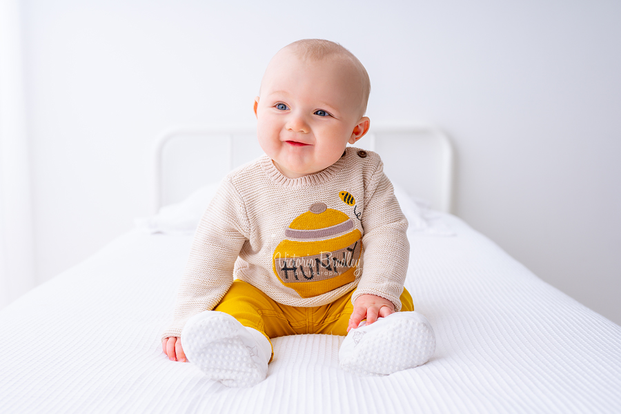 baby boy white studio photography hunny jumper