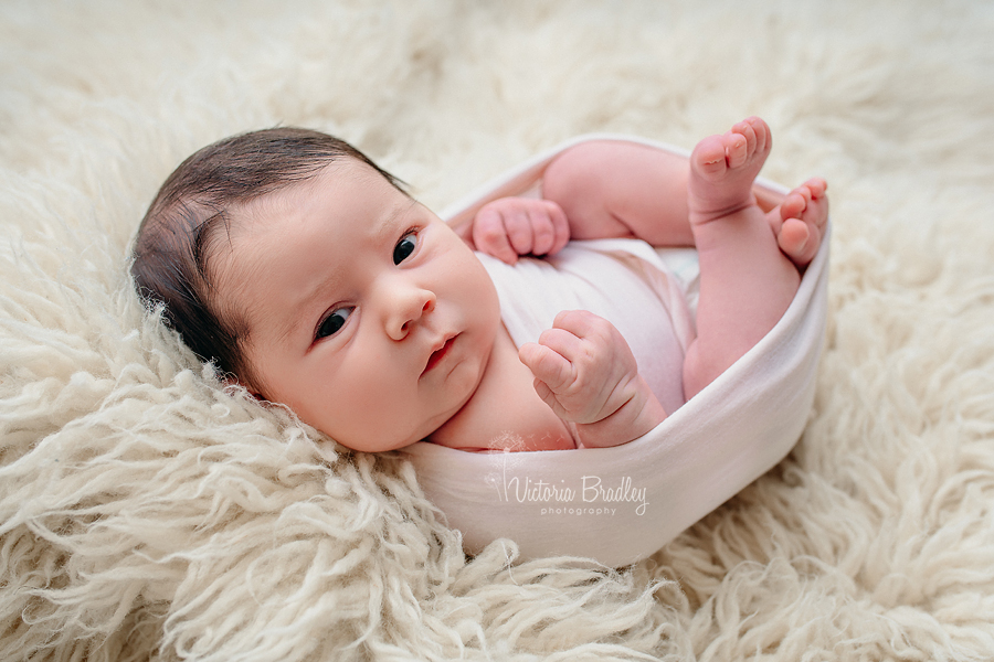 wrapped newborn photography
