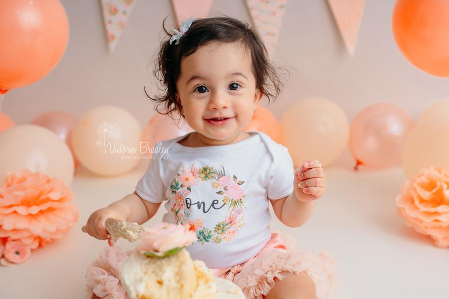 baby girl birthday cake smash