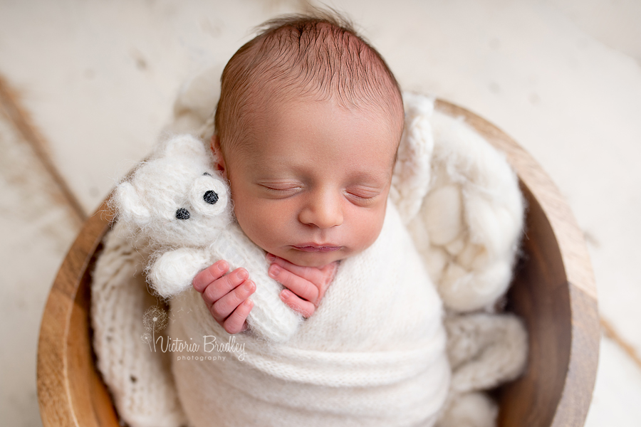 wrapped newborn photography session