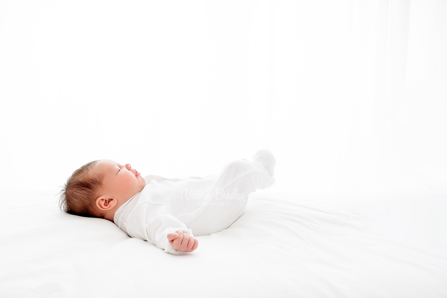 newborn on white photography