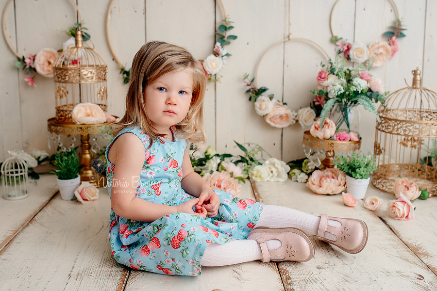 floral hoops back drop toddler photograph