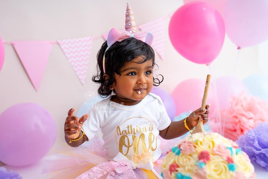 baby girl pink cake smash