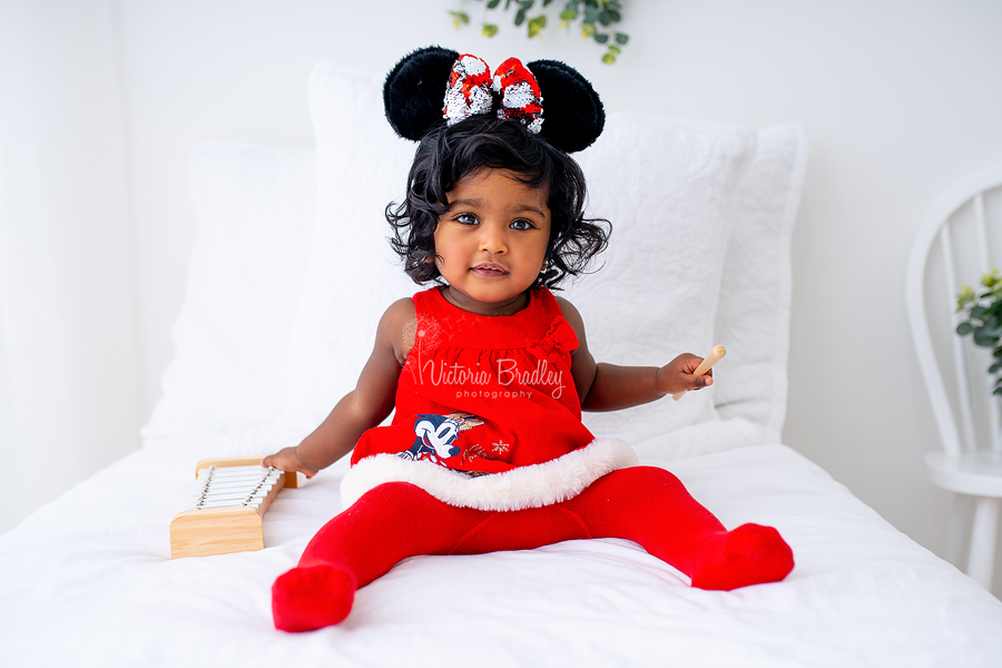 mickey mouse cake baby girl portrait