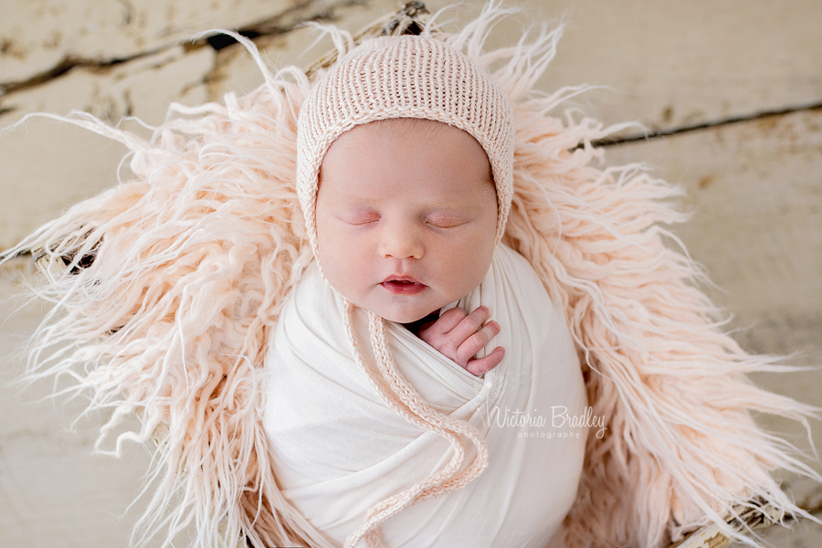wrapped newborn in pinks