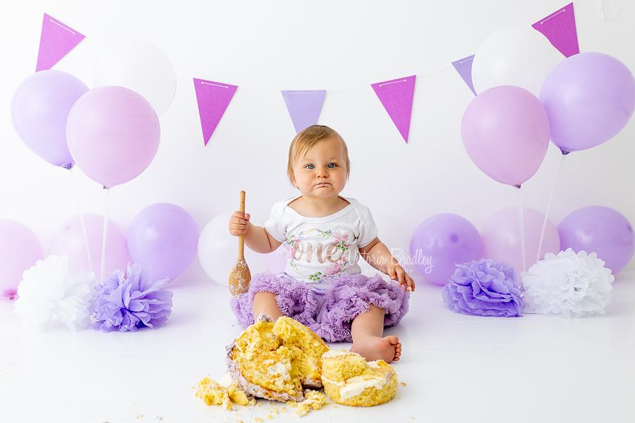 purples and lilac cake smash