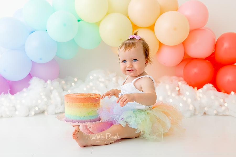 cake smash rainbow