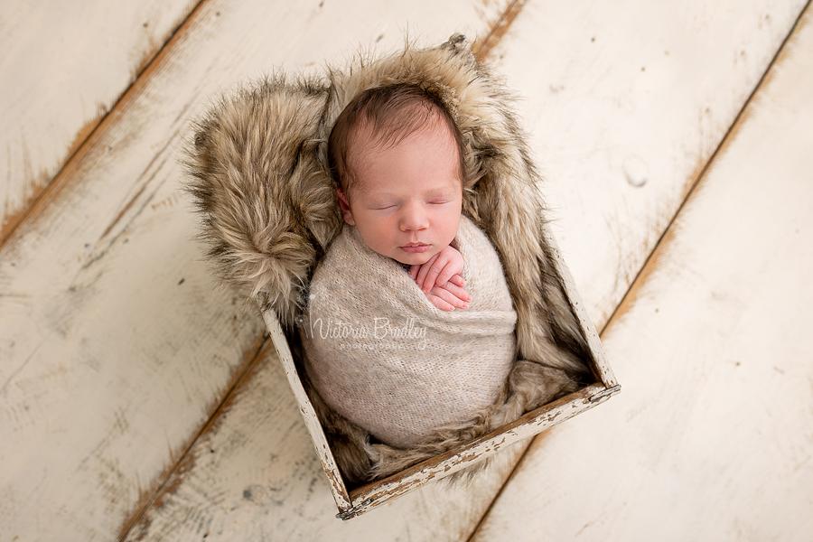 wrapped newborn